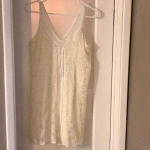 Abercrombie off-white lace mini dress NWT small